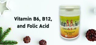 A supplement that contains Vitamin B6, Vitamin B12 and Folic Acid by Heilat Co., Ltd in Japan