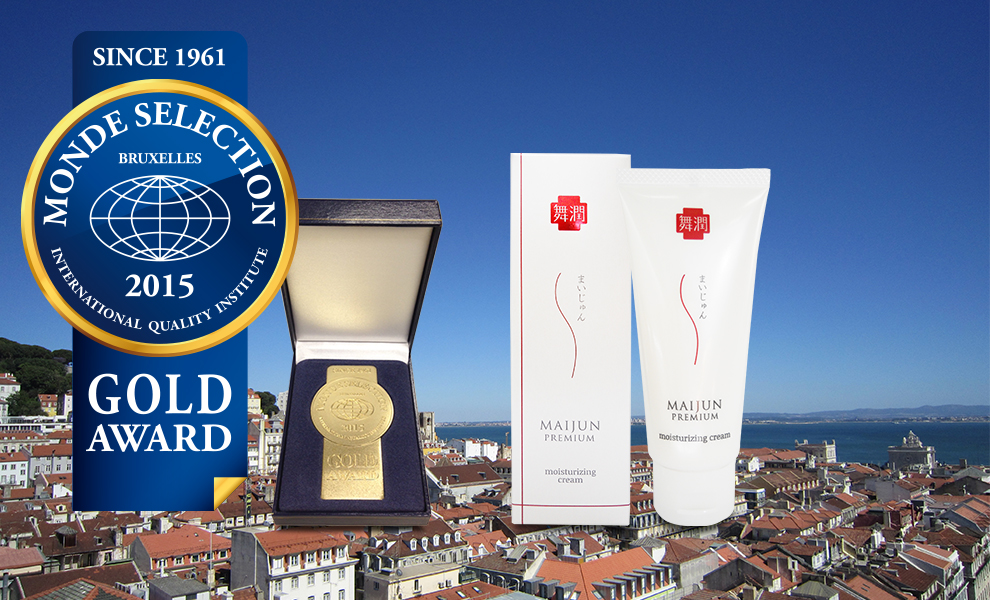 Maijun Premium Gripin Cream has for the second consecutive year been awarded a Gold Quality Award by Monde Selection.