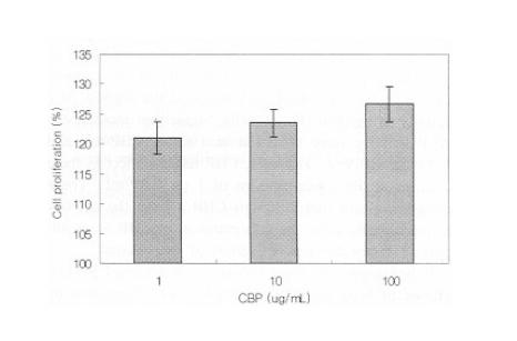 CBP increased Osteoblast Proliferation and Bone Metabolism