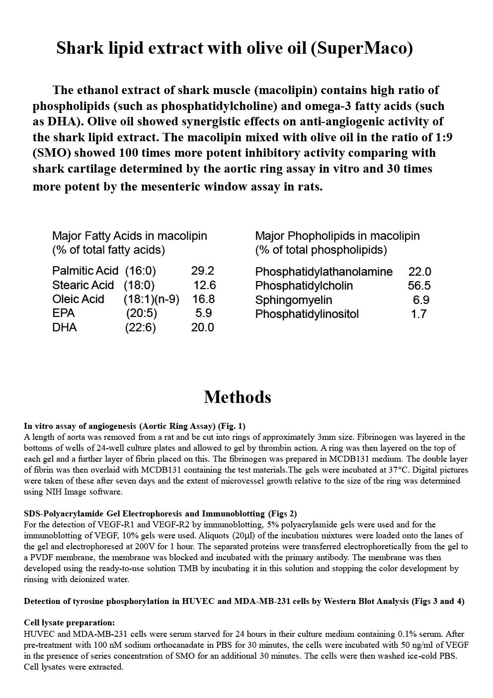 An ethanolic extract from a shark having potent anti-angiogeneric activity P3