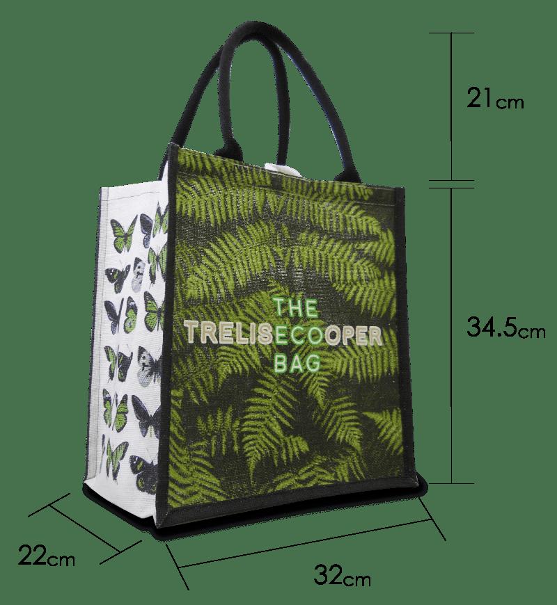 海外で人気のニューとバッグ「トレリスクーパーマルシェトート」のサイズ